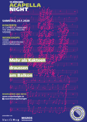 Flyer-Serie Zürcher Acapellanight